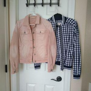 2 Merona Jackets XS Jean and Bomber